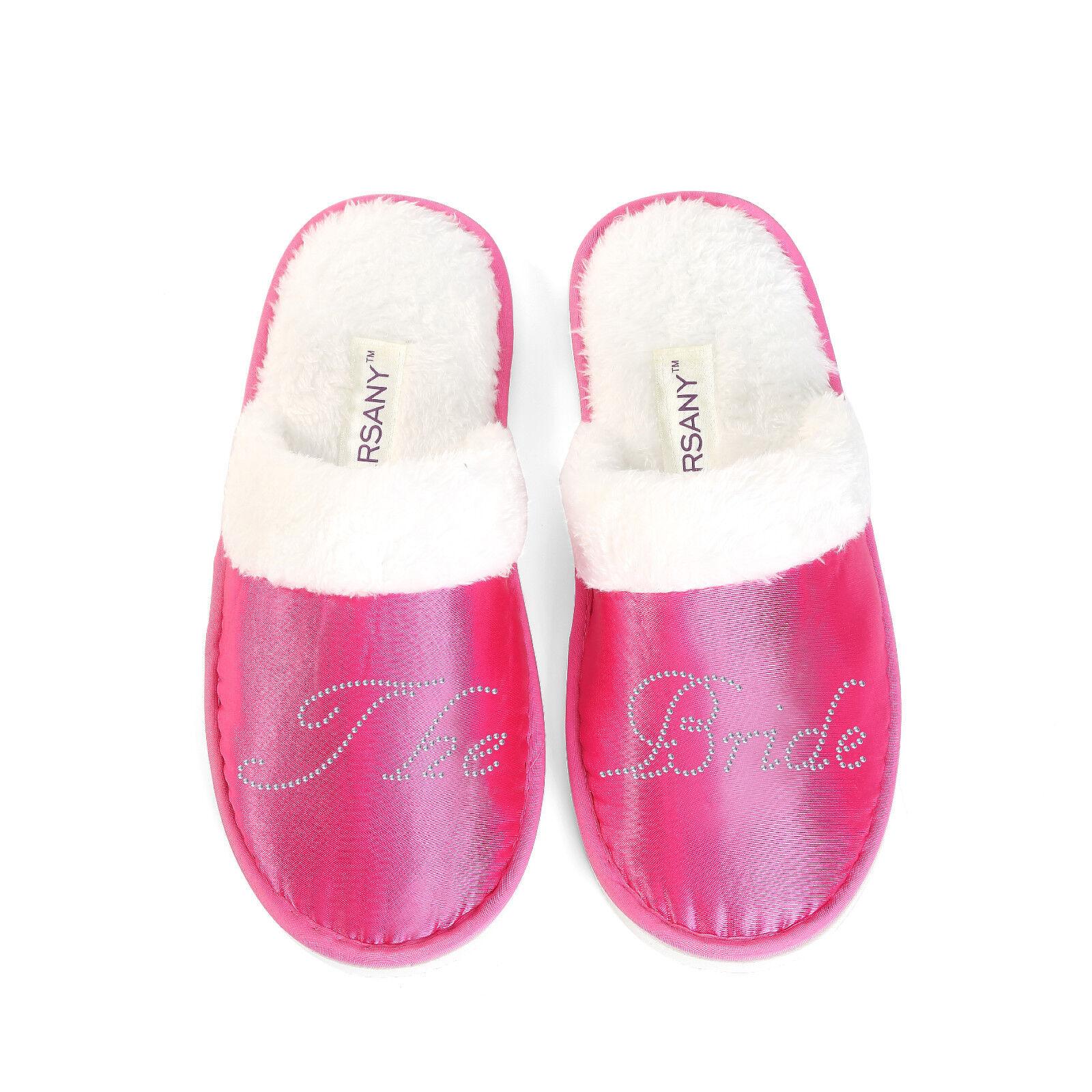 PERSONALIZZATA Lusso Cristallo Rosa nubilato SPA Pantofole addio al nubilato Rosa 536ea2