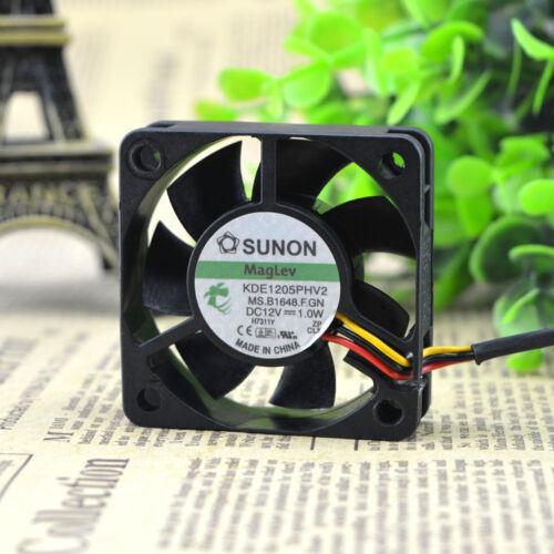 1pc SUNON  KDE1205PHV2 fan 5015 3pin 12V 1.0W