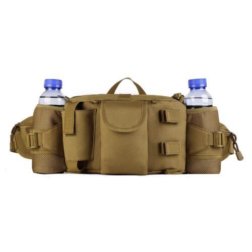 Tactical Waist Pack Bag With Water Bottle Pocket Waterproof Hip Belt Bag Pouch f