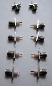 LOT-OF-10-SMA-F-2-HOLE-JACK-CONNECTORS