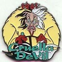 Cruella Devil Dalmatians 1961 63 Countdown To The Millennium Disney Pin Nip