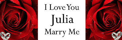 WILL YOU MARRY ME MARRIAGE PROPOSAL BANNER LARGE ADD PHOTOS ANY TEXT