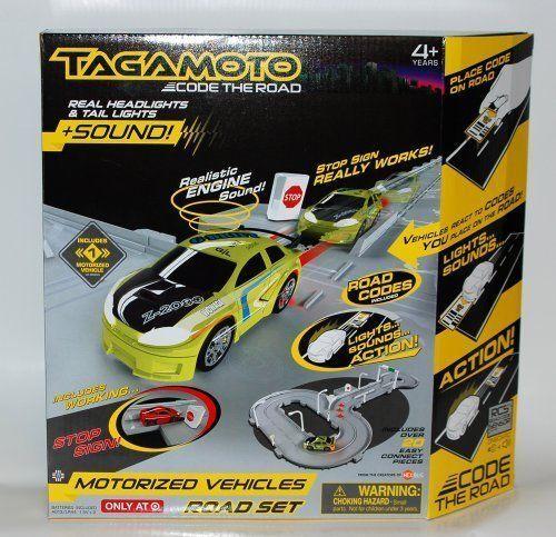 Elektrisches Spielzeug Hexburg Tagamoto Road Set 640-2667 mit grünem Auto Neu Verpackung B Ware