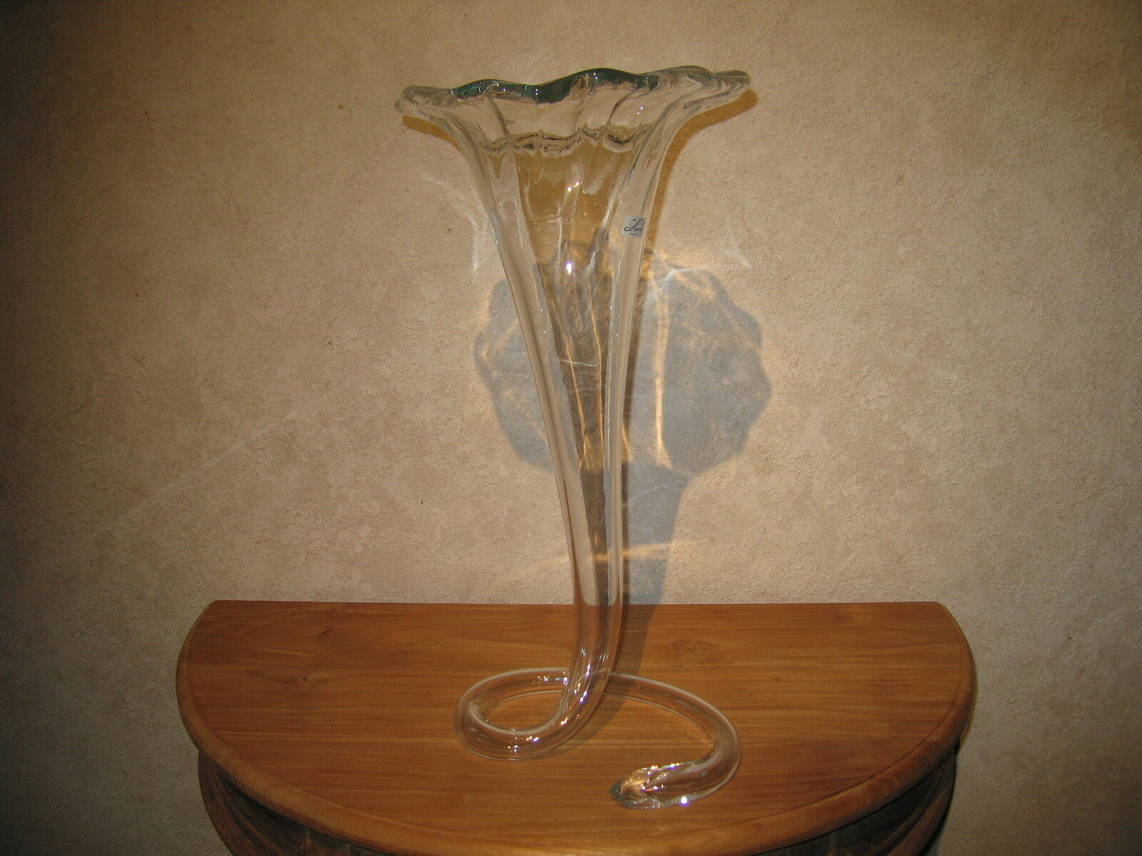 LAURA ITALY NEW Vase 50cm transparent