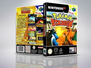 Pokemon-Stadium-N64-Replacement-Cover-Case-NO-Game-PAL-US