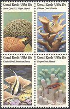 USA 1980 Coral/Reef/Fish/Nature/Marine/Wildlife/Conservation 4v blk (n43292)