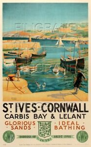 ST IVES CORNWALL Rovy - POSTER HQ 50x70cm* d'1 AFFICHE VINTAGE