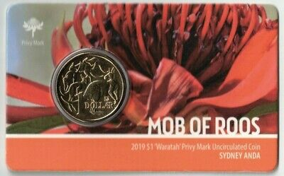 2019 ANDA Sydney Waratah $1 Privy Mark Coin