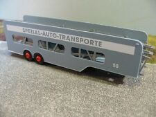 1/87 Brekina Autotransport Auflieger Spezial Autotransporte #50 blaugrau