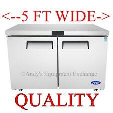 60 Commercial Refrigerator 2 Door Undercounter Cooler Locking 5 Foot Wide Nsf