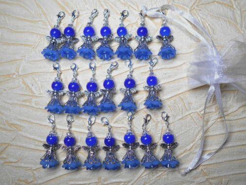 Schutzengel blau Elfe Fee Gastgeschenk Deko Anhänger Hochzeit Taufe Engel C60