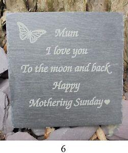 1 X Ardoise Coaster, Mothering Sunday/fête Mères Cadeau (coaster 6)-afficher Le Titre D'origine Gagner Une Grande Admiration