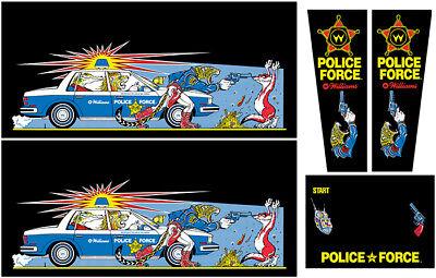 Police Force Pinball Machine Insert Decals LICENSED