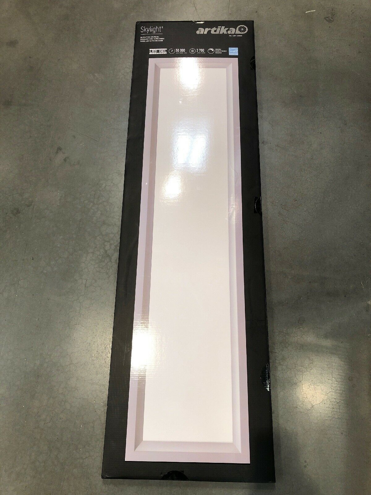 2X NEW Artika Ultra-Thin Dimmable LED Skylight Flat Panel Ceiling Light Fixture