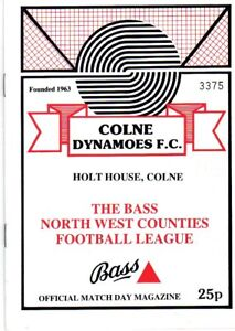 COLNE-DYNAMOES-V-DARWEN-30-1-1987-north-west-counties-league-PROGRAMME