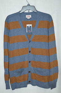 Lands-End-Canvas-Mens-Fine-Gauge-Cotton-Cashmere-Cardigan-Size-S