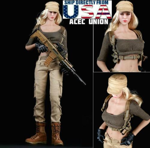 1//6 Femmes Tactique Militaire Armée Combat Costume Set Pour Phicen Hot Toys figure USA