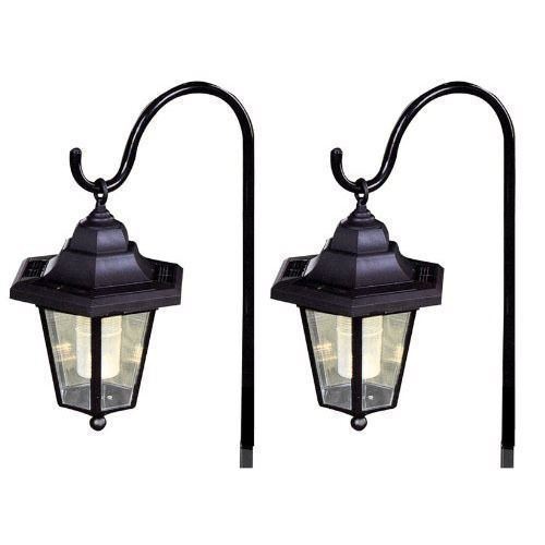 Solar Lights Za: 2 X Solar Classic LED Shepherd Hanging Garden Lanterns
