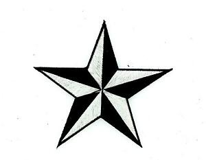 Patch-patches-embroidered-iron-on-backpack-white-star-nautical-black-biker