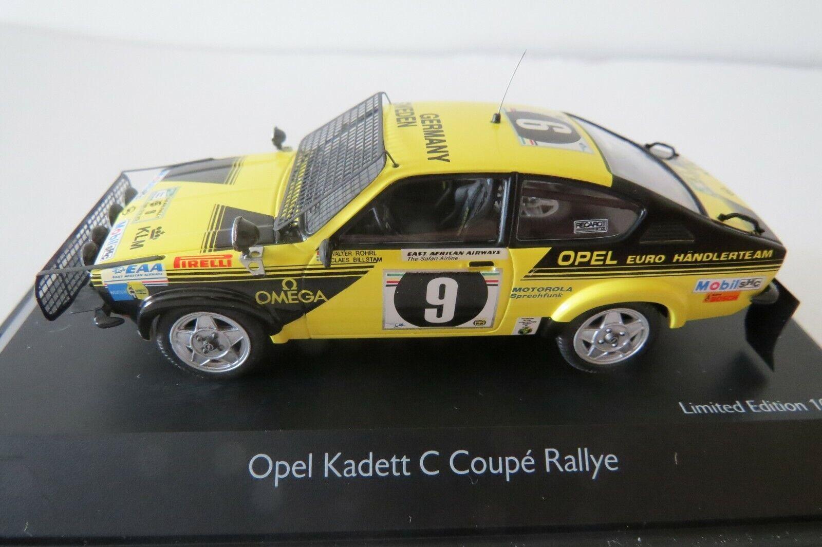 miniature 1/43 Opel Kadett Safari rallye 76 W.Rorhl Schuco série limitée Rare