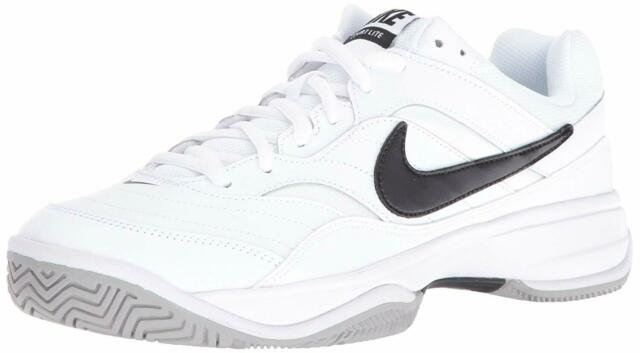 Nike Men's Shoes Court Lite Low Top Lace Up, White/Black/Medium Grey, Size 11.5