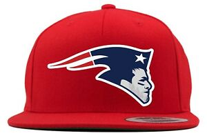 Red-TOM-Brady-New-England-Patriots-Super-Bowl-Champions-Logo-Snapback-Cappello
