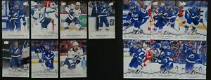 2018-19-Upper-Deck-UD-Tampa-Bay-Lightning-Series-1-amp-2-Team-Set-13-Hockey-Cards