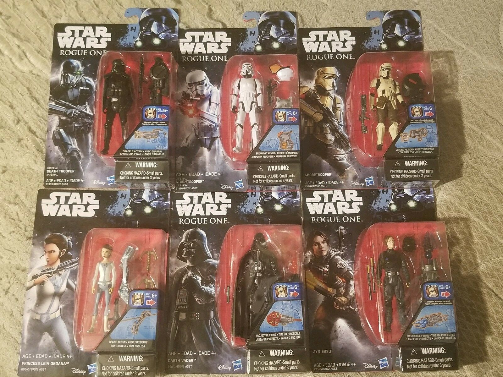 Star Wars Rouge One action action action figures Lot Of 6 a9a4d2