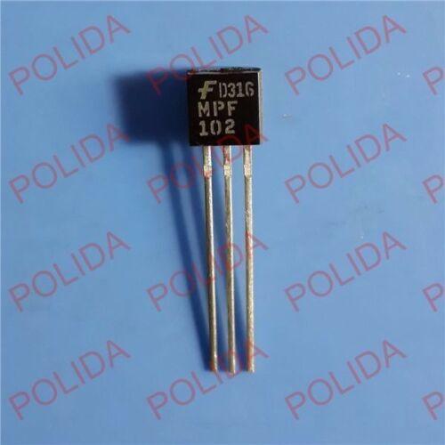 10PCS  RF//VHF//UHF JFET Transistor FAIRCHILD TO-92 MPF102