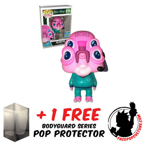 FUNKO POP RICK AND MORTY GLOOTIE SDCC 2019 EXCLUSIVE FREE POP PROTECTOR