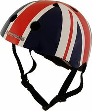 Kiddimoto Union Jack Helmet Childs Kids Bike Scooter Skate BMX Cycle safety