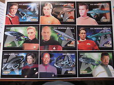 WILLIAM SHATNER PATRICK STEWART STAR TREK UNCUT SHEET OF 9 POSTCARDS CLASSIC