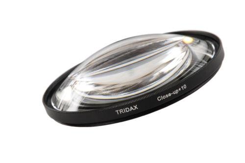 Tridax nahlinse close-up 82 mm macro 10 con bolsa de filtro