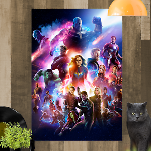 Avengers Endgame Framed Canvas Print Ready To Hang