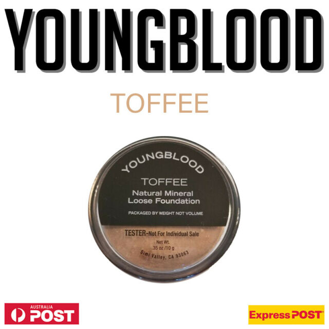 Youngblood Natural Loose Mineral Foundation TOFFEE 10g Foundation TESTER