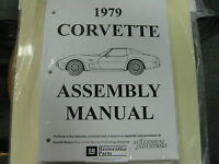 1979 Corvette (all Models) Assembly Manual