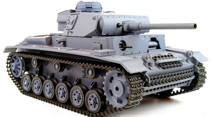 HENG lunga Panzer 3  Panzer III Radio Telecouomodo BB sparare SERBATOIO 1 16 UK  saldi