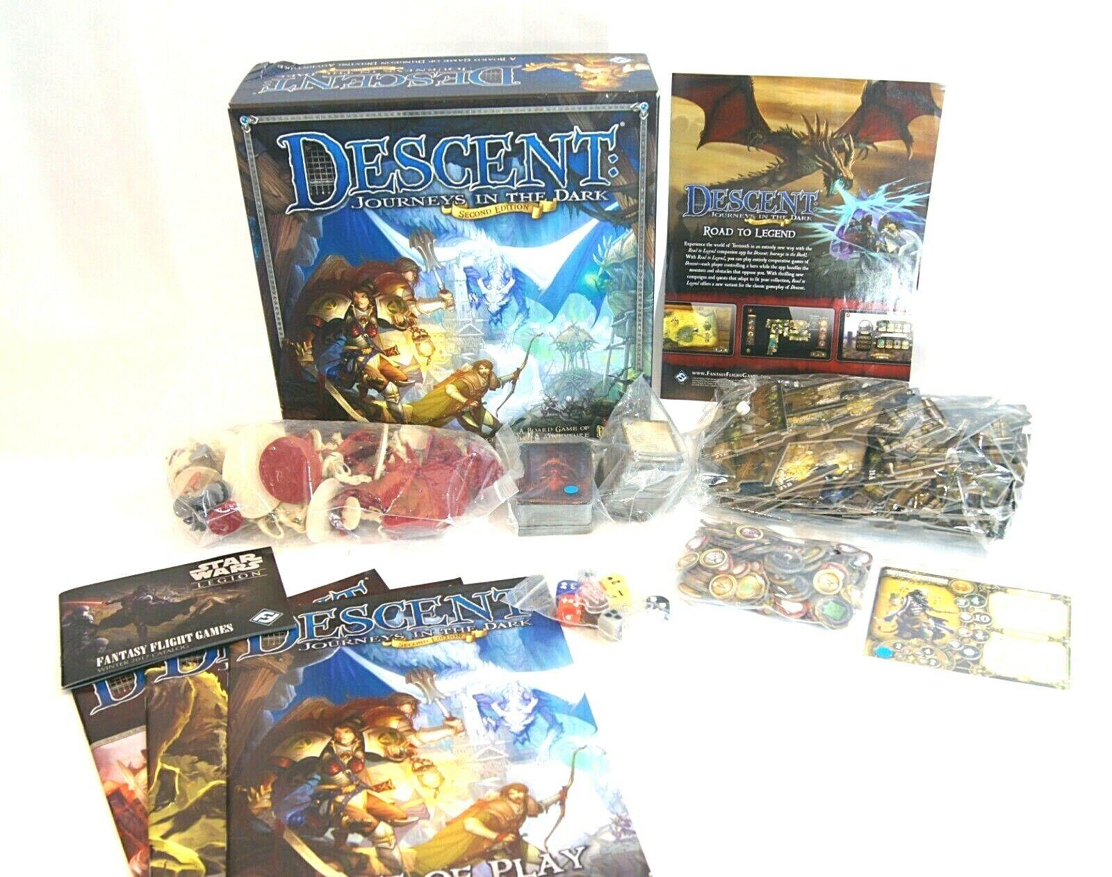 ¡envío gratis! Descenso viajes en la oscuridad 2nd 2nd 2nd Edición Juego De Mesa De Fantasy Flight Juegos D&D  centro comercial de moda