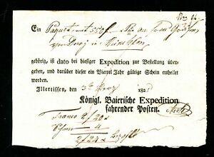 Bavaria-1825-Fruher-Postschein-034-Illertissen-034-6114