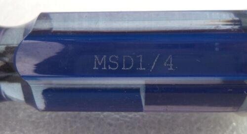 w//storage handle Genuine MSD 1//4-in Precision Screwdriver no bits p//n MSD14