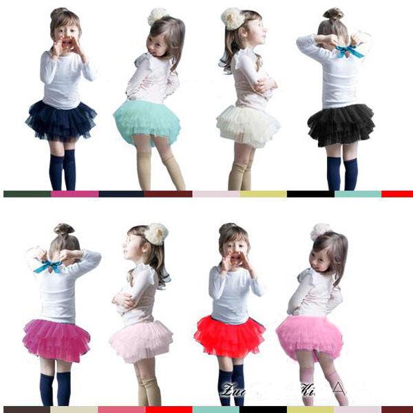 Cute Ruffle Chiffon Layered Skirt Dress Tutu For Baby Kids Girl Wedding Party
