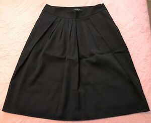 4100f737b32 Talbots black flare pleated skirt Size 2 Petite cotton blend CAREER ...