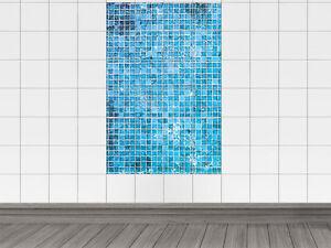 fliesenaufkleber fliesensticker aufkleber f r k che mosaikmuster blau kacheln ebay. Black Bedroom Furniture Sets. Home Design Ideas