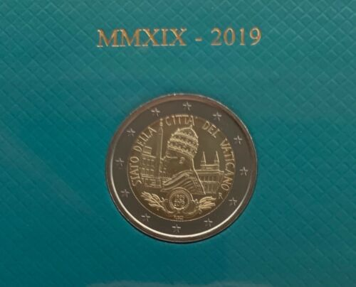 "Vatican 2 euro 2019 /""Foundation of the Vatican City State/"" BiMetallic UNC"
