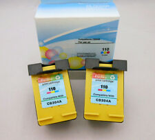 2PK 110 Tri-Color Ink Cartridge for HP PhotoSmart A826 A820 A716 A626 A522 A520
