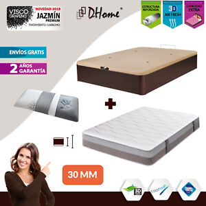 CONJUNTO Canape Abatible 3D 30mm + Colchon Carbono + Almohada VISCO O COPOS PACK