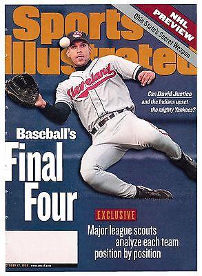 1998 David Justice Cleveland Indians REGIONAL Sports Illustrated October 12