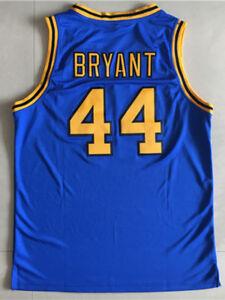 wholesale dealer f823c e47b0 Details about Kobe Bryant Jersey 44 Crenshaw High School Blue Basketball  Jersey Shirt