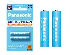 AAA 2 Panasonic eneloop lite rechargeable NiMH battery 550mAh 2 Pack 5000 cycle