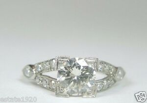 Antique-Art-Deco-Vintage-Diamond-Engagement-Platinum-Ring-Size-7-UK-N1-2-EGL-USA